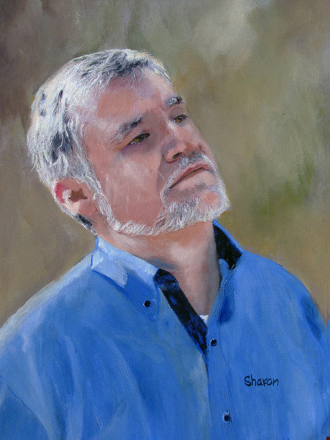 Painting - Me By Sharon Burger by Miguel Rodriguez
