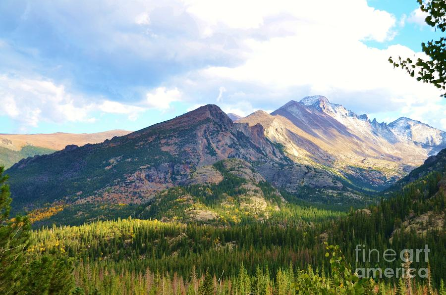 Rocky Photograph - Meadow And Mountains by Kathleen Struckle