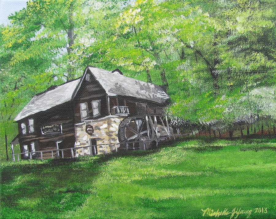 Mill Painting - Meadow Run Mill by Michelle Young