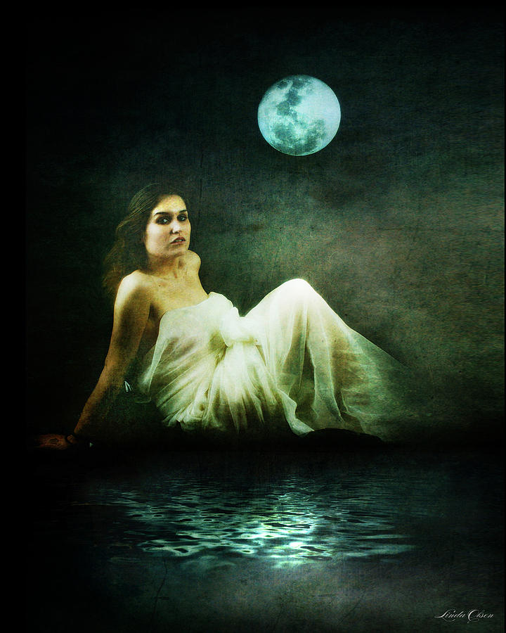 Meaghan In The Moonlight Photograph  - Meaghan In The Moonlight Fine Art Print