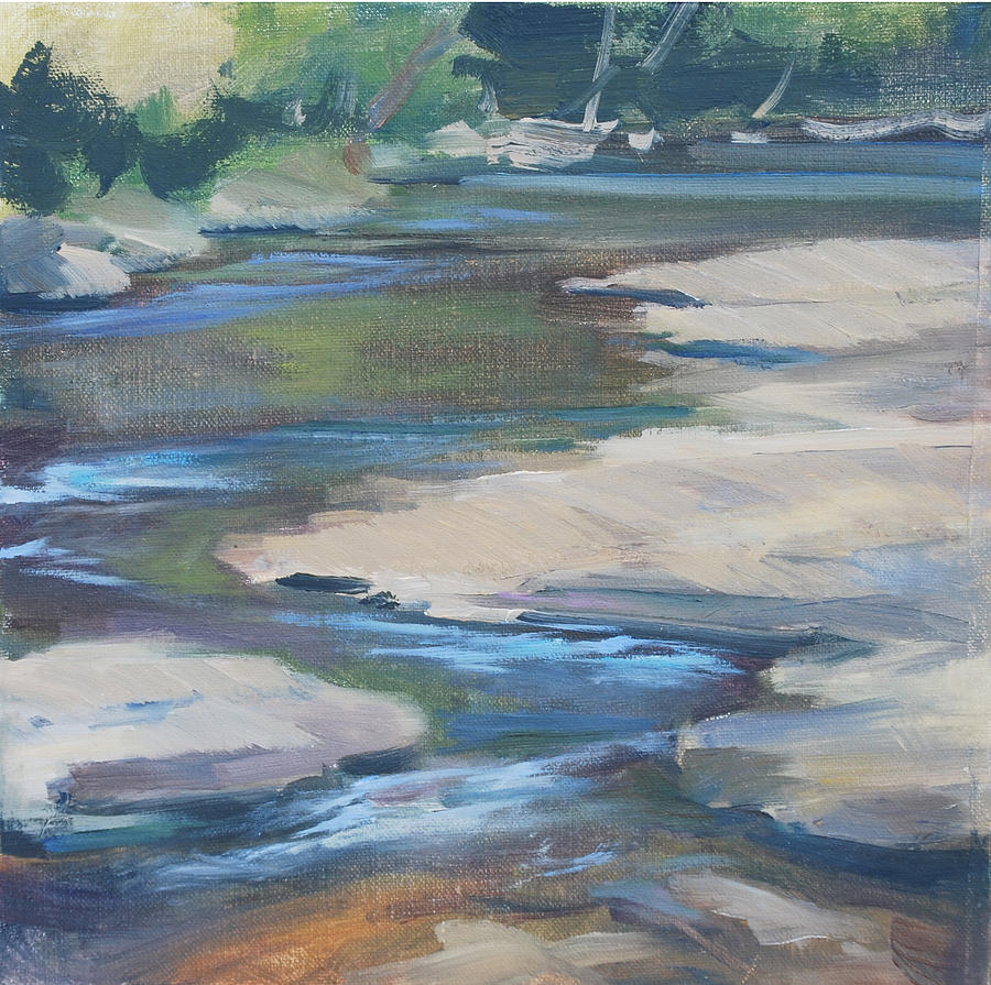 Creek Painting - Meandering Through Time by Carol  DeMumbrum