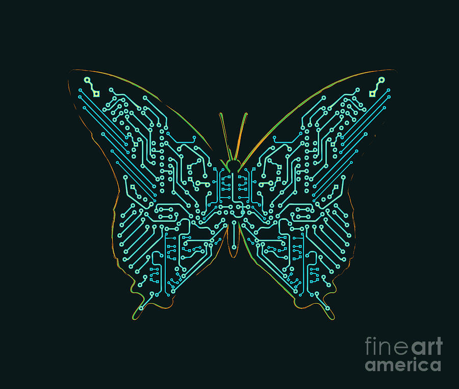 Mechanic Butterfly Digital Art