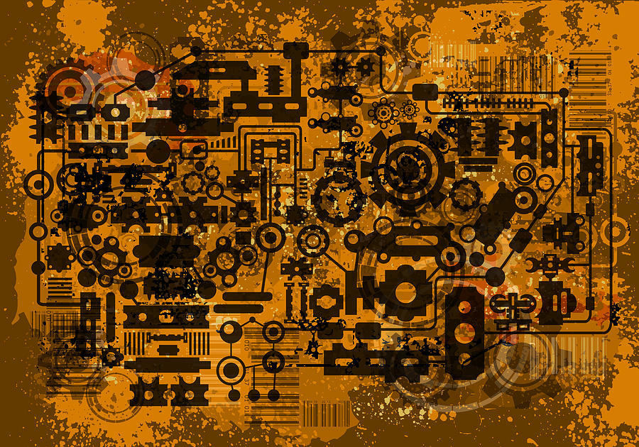 Mechanism Digital Art  - Mechanism Fine Art Print