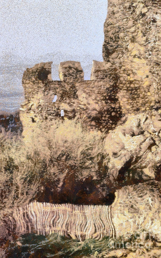 Medieval Castle Of Holloko Hungary Painting