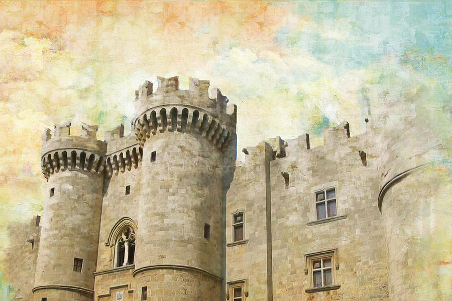 Medieval City Of Rhodes Painting  - Medieval City Of Rhodes Fine Art Print