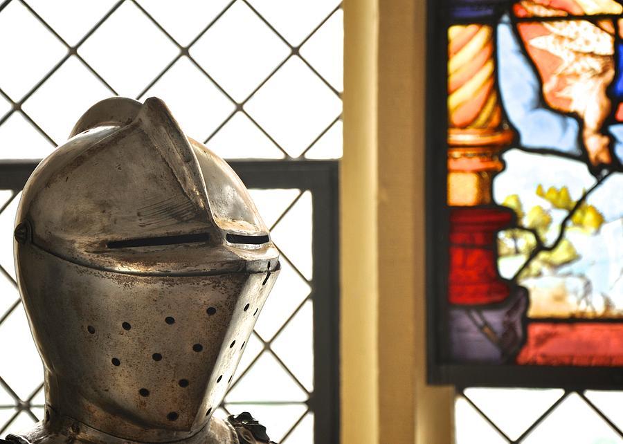Helmet Photograph - Medieval Helmet by Matt MacMillan