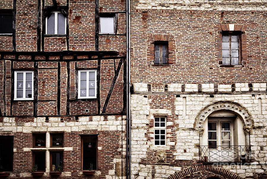 Medieval Houses In Albi France Photograph