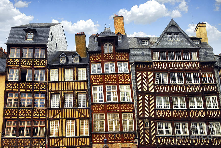 Tudor Photograph - Medieval Houses In Rennes by Elena Elisseeva