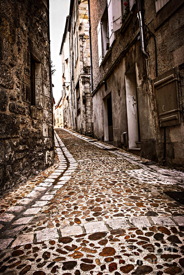 Medieval Street In France Photograph  - Medieval Street In France Fine Art Print