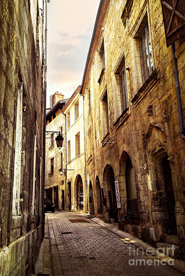 Medieval Street In Perigueux Photograph