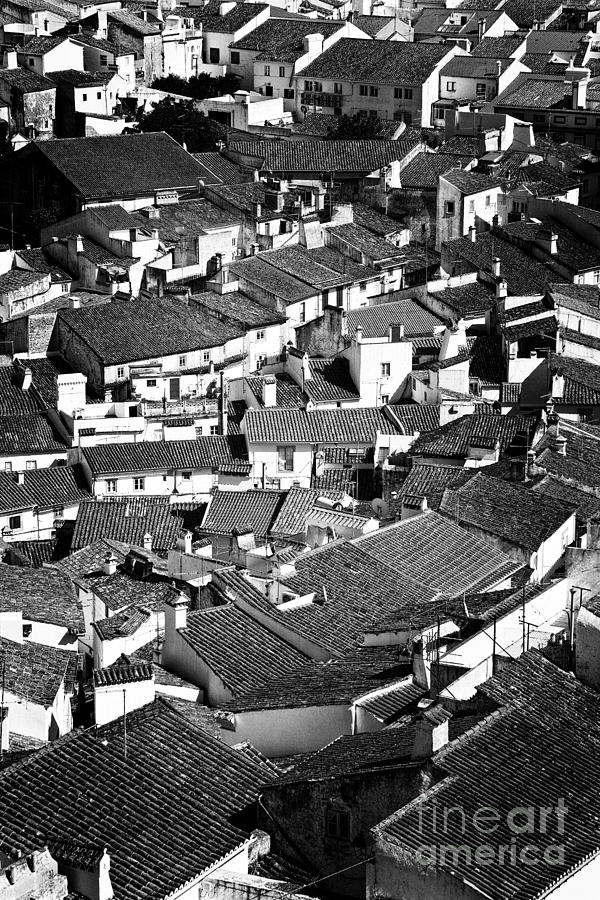 Medieval Town Rooftops Photograph