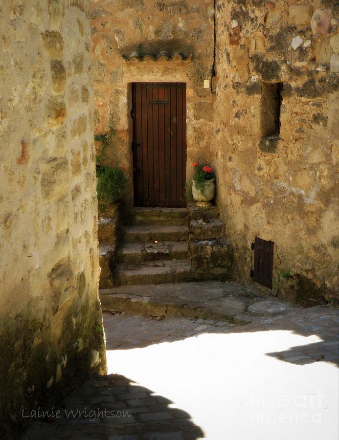 Medieval Village Street Photograph