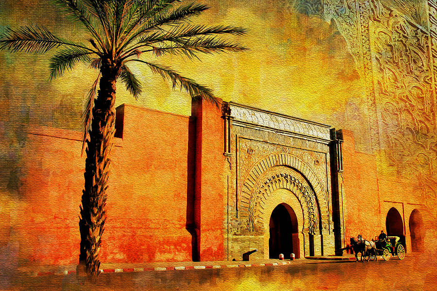 Medina Of Marakkesh Painting  - Medina Of Marakkesh Fine Art Print