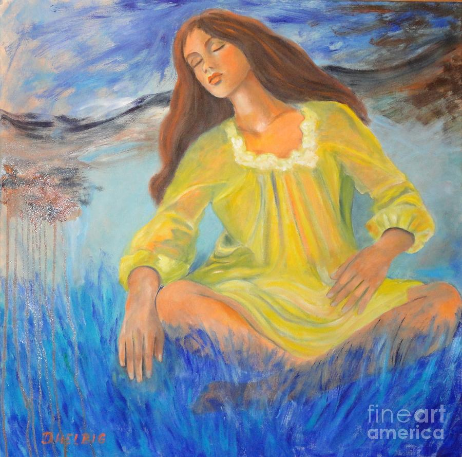 Girl-in-meditation Painting - Meditation by Dagmar Helbig