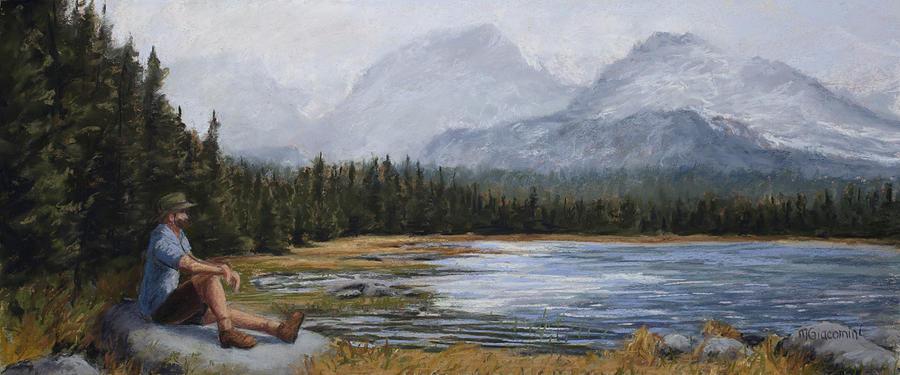 Hiking Painting - Meditation by Mary Giacomini