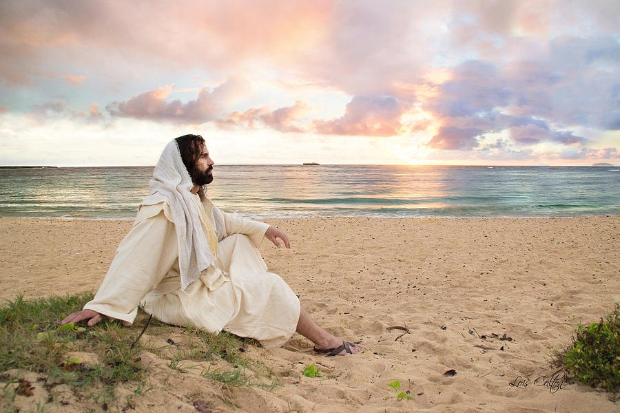 Seascape Photograph - Meditation Of Christ by Lois Colton