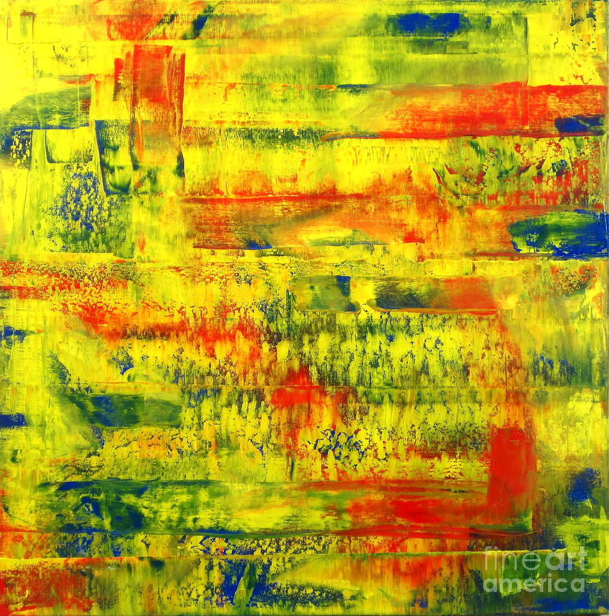 Meditation On Primary Colors Painting