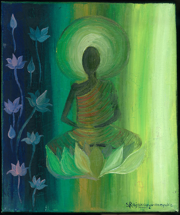Meditation Painting by Samadhi Rajakarunanayake