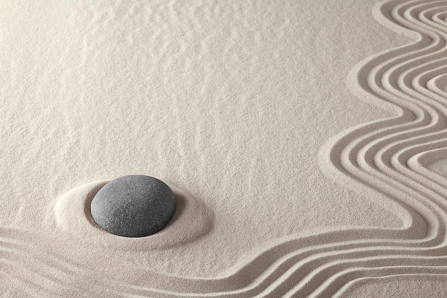 Meditation Stone Zen Rock Garden Photograph
