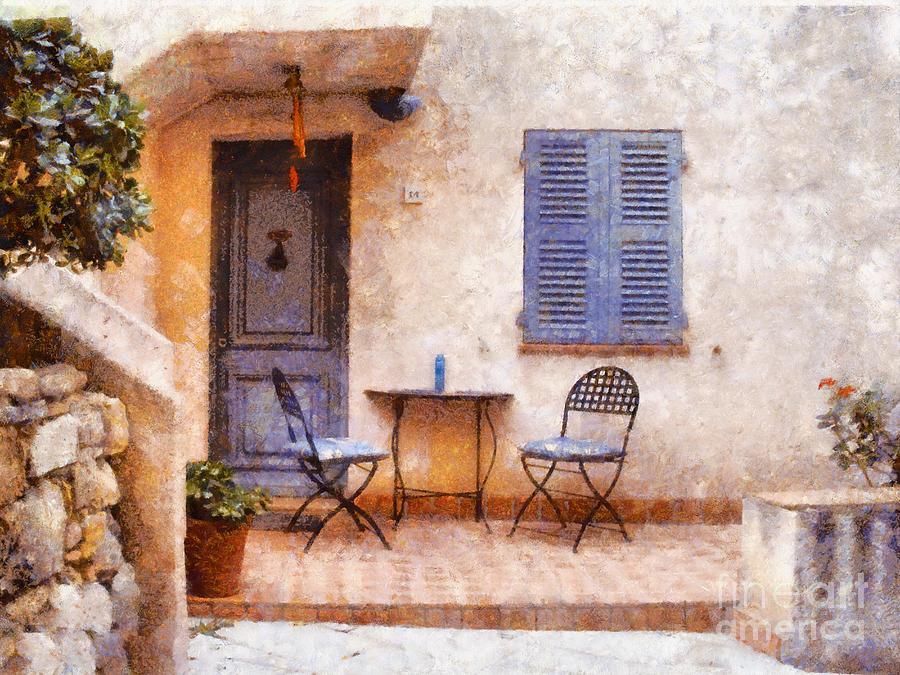 Landscape Painting - Mediterranean House by Pixel  Chimp