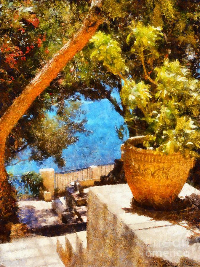 Mediterranean Steps Painting