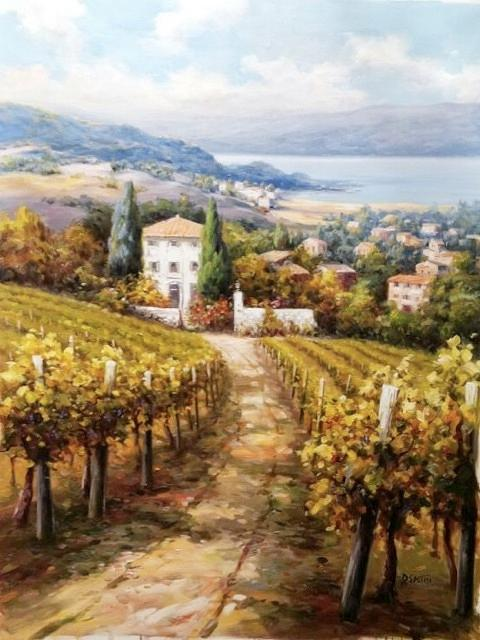 Mediterranean Vineyard Painting