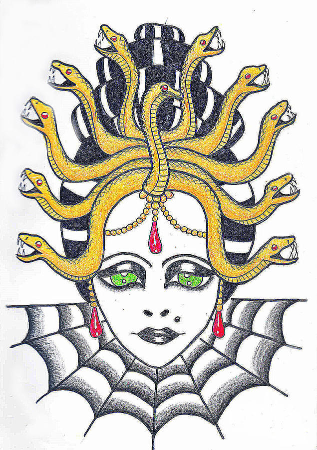 Medusa Drawing  - Medusa Fine Art Print