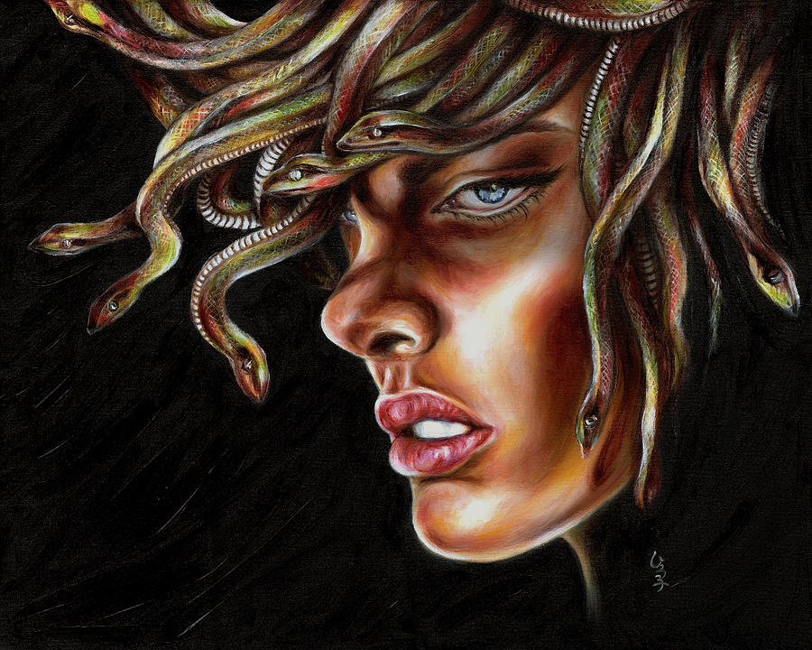 Medusa No. One Painting  - Medusa No. One Fine Art Print