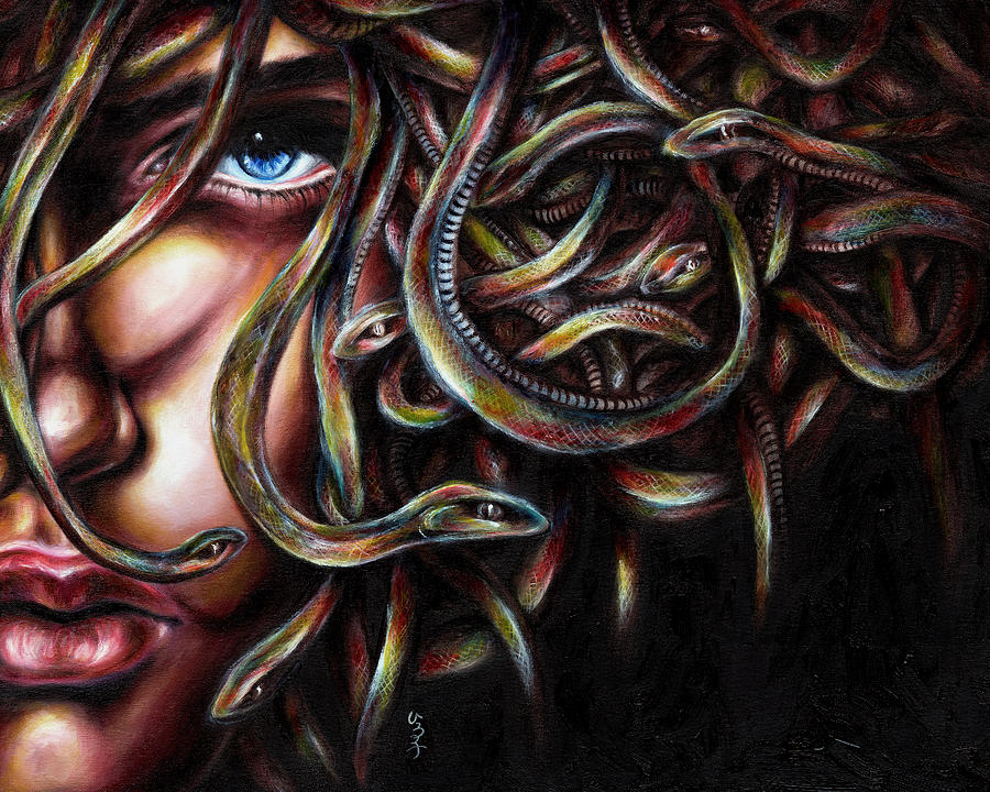 Medusa No. Two Painting  - Medusa No. Two Fine Art Print
