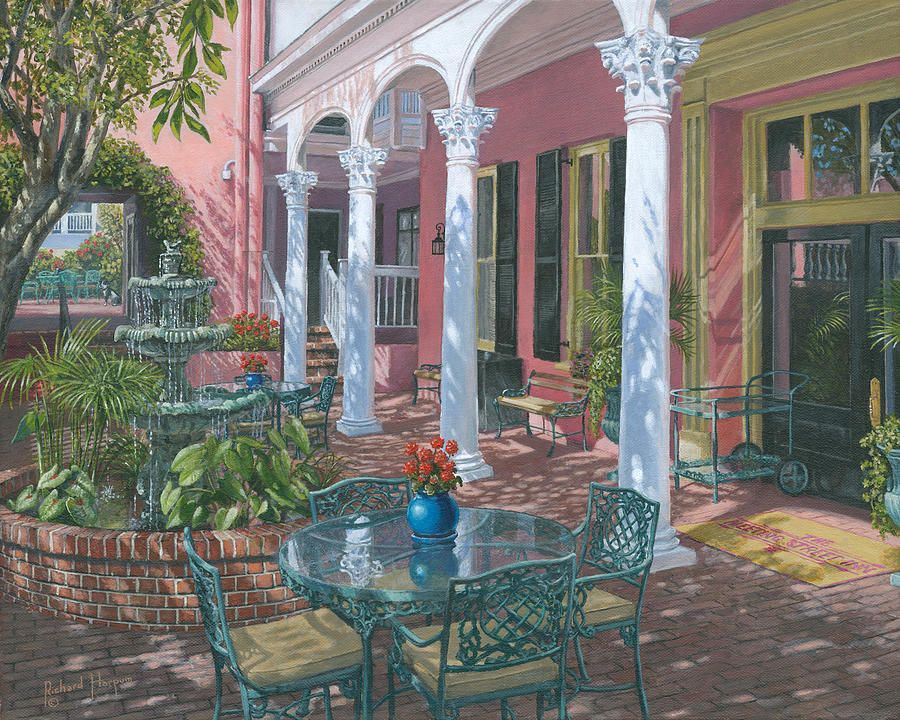 Meeting Street Inn Charleston Painting