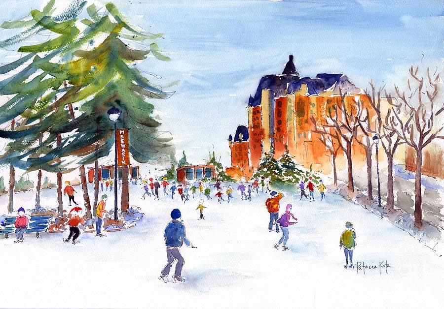 Meewasin Skating Rink Painting
