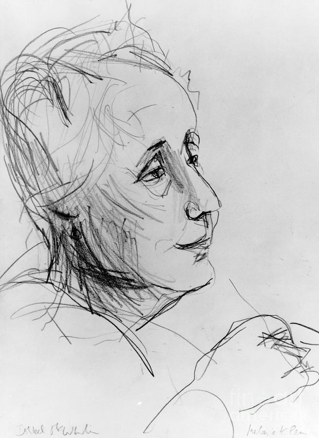 20th Century Drawing - Melanie Klein by Granger