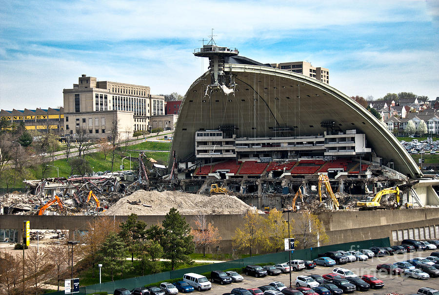 Mellon Arena Partially Deconstructed Photograph
