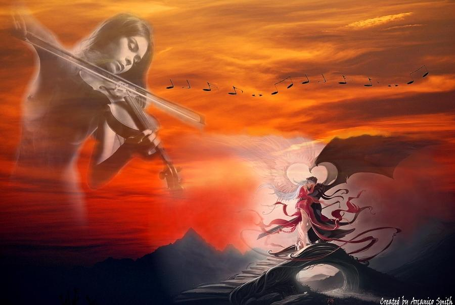 Melody Of primordial Love Digital Art