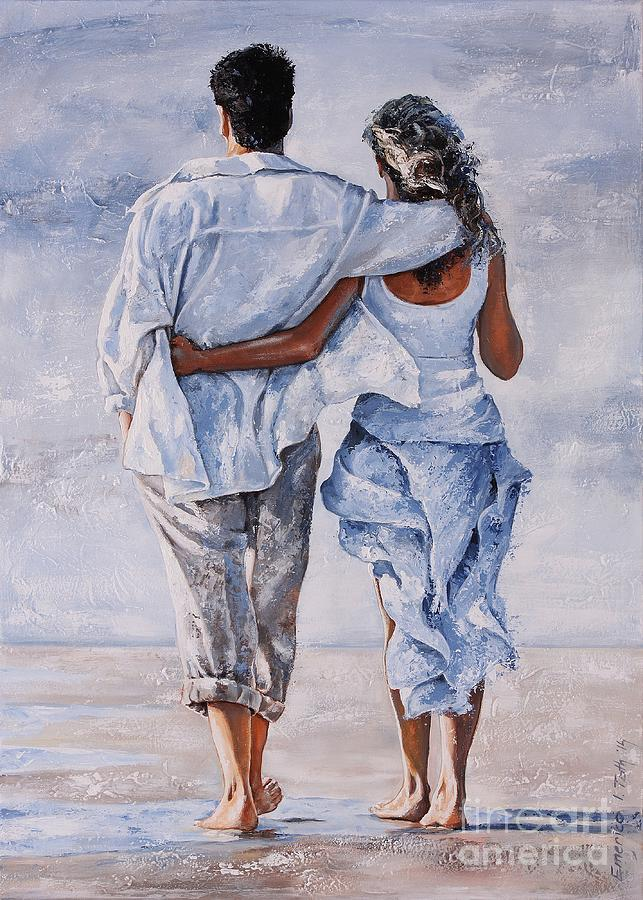 Couple Painting - Memories Of Love by Emerico Imre Toth