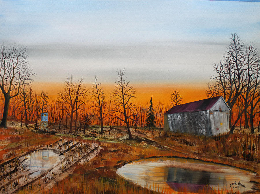 Jack Brauer Painting - Memory Reflections by Jack G  Brauer