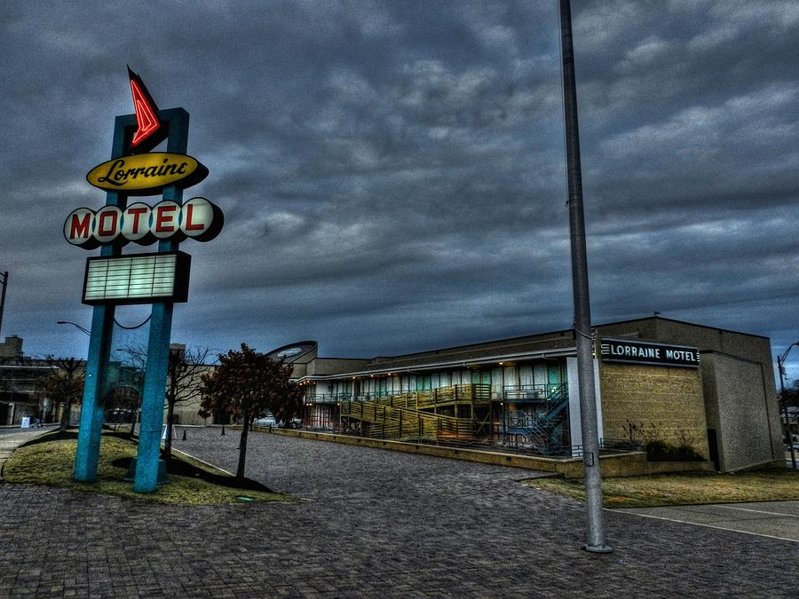 Memphis - Dark Clouds Over The Lorraine Motel Photograph  - Memphis - Dark Clouds Over The Lorraine Motel Fine Art Print