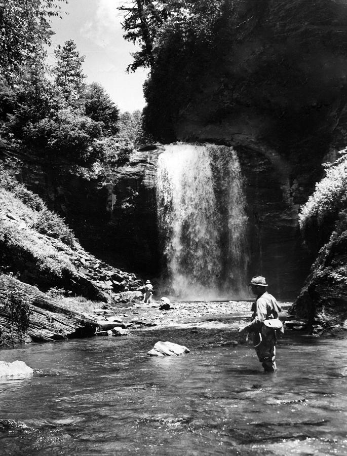 Men Trout Fishing Photograph