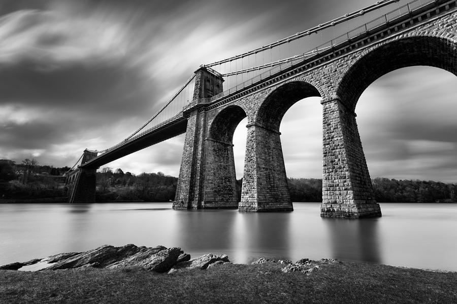 Menai Suspension Bridge Photograph  - Menai Suspension Bridge Fine Art Print