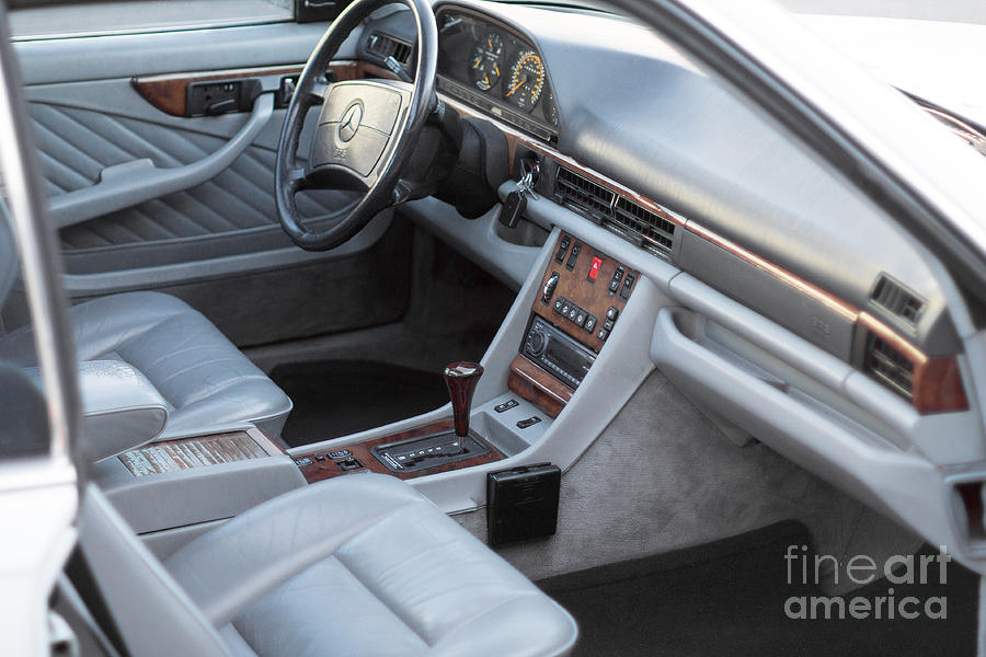 Mercedes 560 Sec Interior Photograph  - Mercedes 560 Sec Interior Fine Art Print