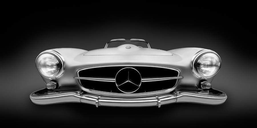 Black and white photography mercedes benz 190sl roadster for Voss mercedes benz