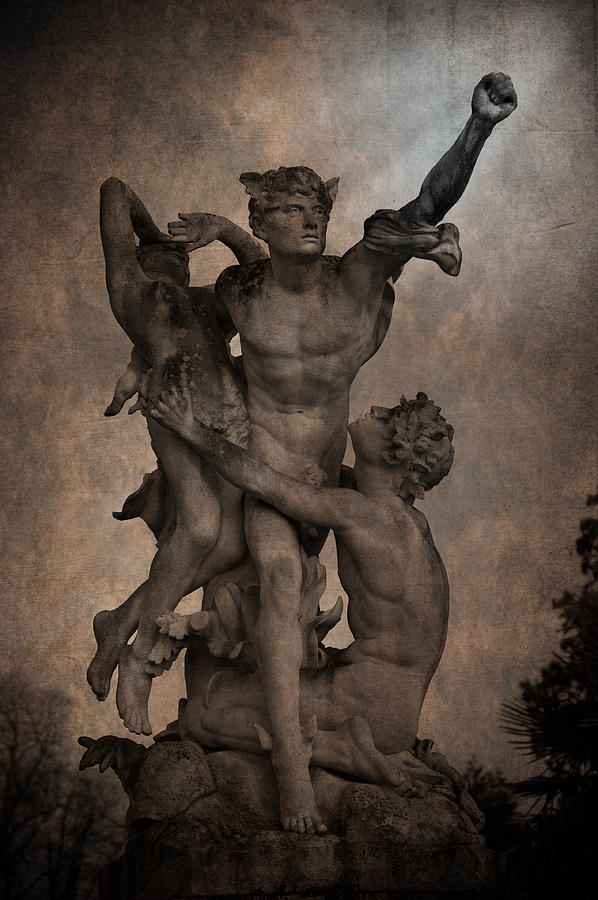 Mercury Carrying Eurydice To The Underworld Photograph  - Mercury Carrying Eurydice To The Underworld Fine Art Print