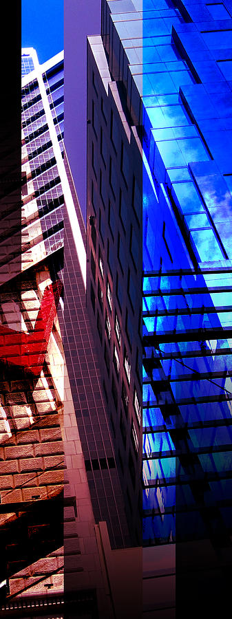 Merged - City Blues Photograph  - Merged - City Blues Fine Art Print