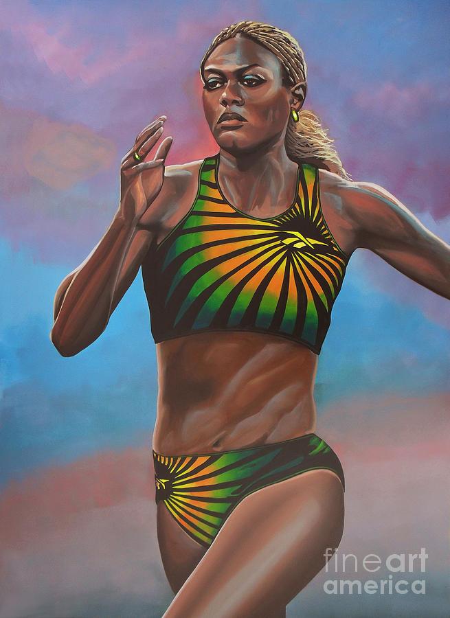 Merlene Ottey Painting