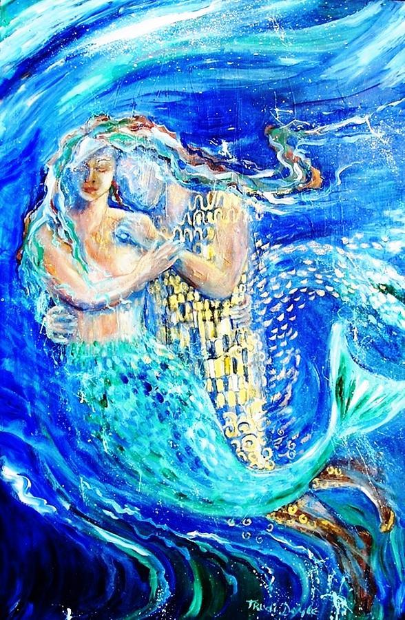 Mermaid Painting - Mermaid Dreamer  by Trudi Doyle