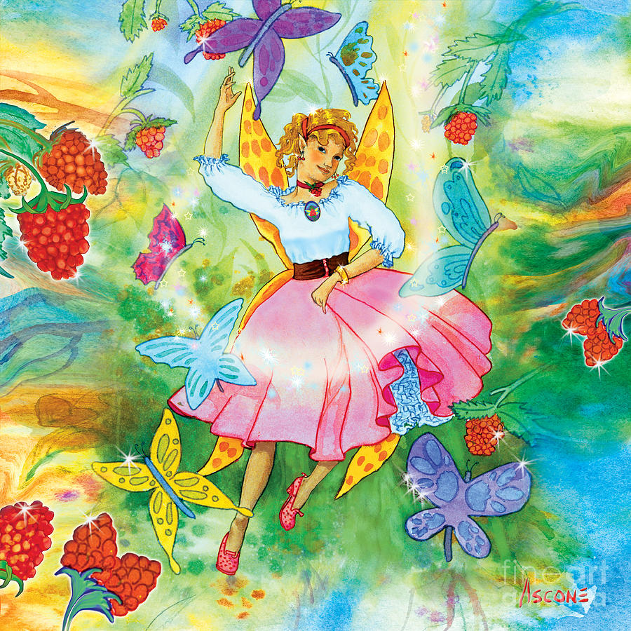 Fairy Painting - Merri Goldentree Dances by Teresa Ascone