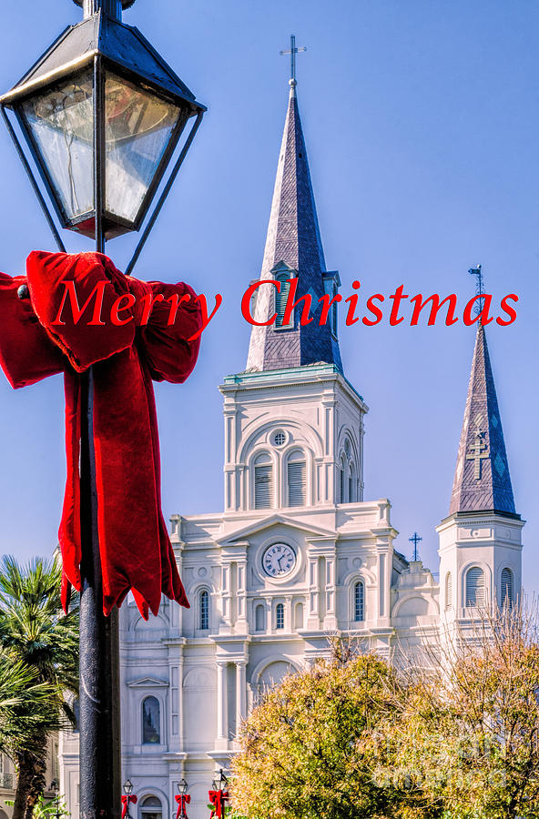 Merry Christmas Card Nola Photograph By Kathleen K Parker
