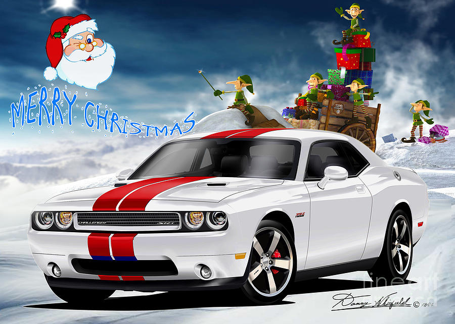 Merry Christmas Dodge Friends Drawing