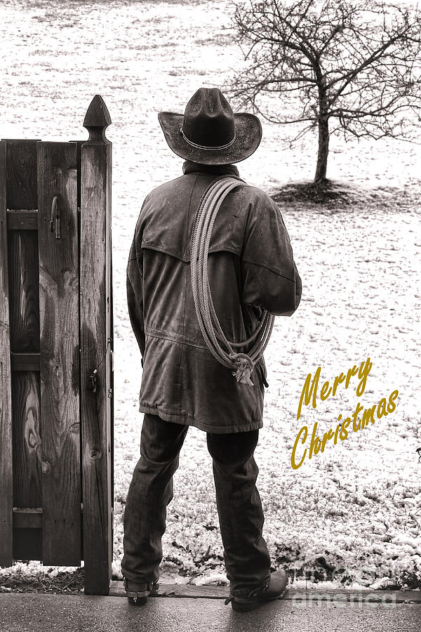 Merry Christmas From Cowboy Country Photograph