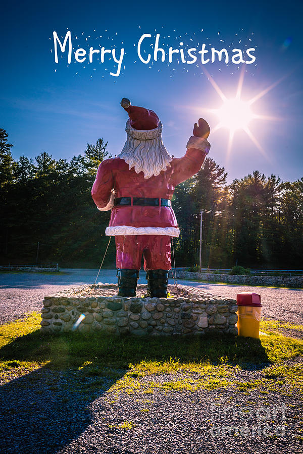 Merry Christmas Santa Claus Greeting Card Photograph